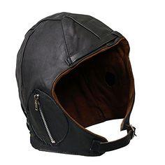 Aviator Black Leather Vintage WWII Hat Large null http://www.amazon.com/dp/B00I3PI1L4/ref=cm_sw_r_pi_dp_n86owb0VRN0NH