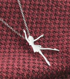 graceful dancer necklace in sterling silver.