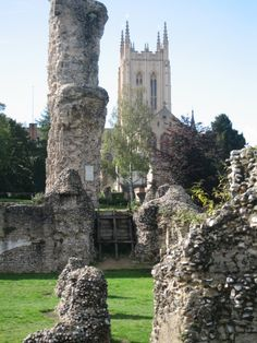 Bury St Edmunds Abbey. Pretty Cathedral and neat ruins....much prettier in spring though!!!!