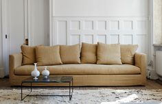 Anthology Bedding, Beautiful Sofas, Comfort Mattress, Living Room Inspiration, Cool Furniture, Interior Design, Home Decor, Scandinavian Interiors, Sofa Recovering