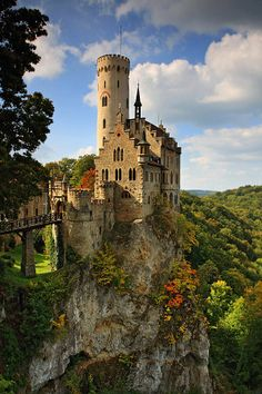 Lichtenstein Castle - Swabian Alb, Germany,    by Uwe Müller - via Pars Kutay's photo on Google+