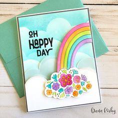 Heather Nichols, Sunnies Studios, Rainbow Card, Pretty Pink Posh, Foam Adhesive, Good Morning Friends, One Year Anniversary, Happy Mail, Card Maker