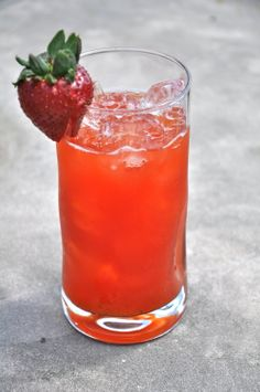 Sweet Southern Strawberry Iced Tea