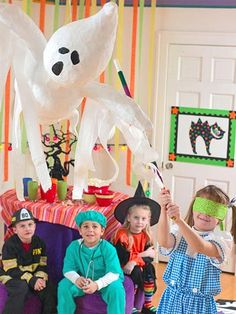 Cast a spell on traditional kids' games to magically transform them into Halloween fun.
