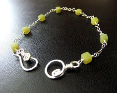 Jade Lime Green Cubes on Sterling Silver Cable Chain Bracelet Blue Beads Simple Colorful Fun Lightweight Bracelet Hook Clasp on Etsy, $45.00 Cute Bracelets, Blue Beads, Cubes, Handcrafted Jewelry, Color Pop, Jade, Colorful, Gemstones, Sterling Silver