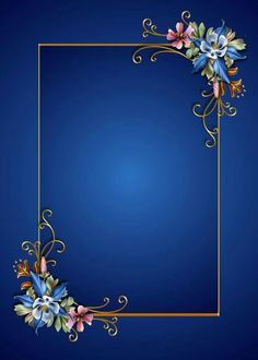 Floral on blue. This would make a striking gift tag if you write on it with a white paint pen. Photography Studio Background, Studio Background Images, Frame Background, Nice Photography, Backgrounds Free, Flower Backgrounds, Wallpaper Backgrounds, Background Images Wallpapers, Framed Wallpaper