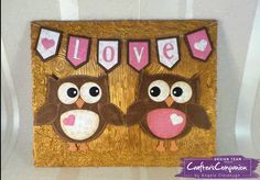 Canvas made using Crafter's Companion Die'sire Mixed Media Dies -  Twit Twoo & Bunting Trio. Designed by Angela Clerehugh #crafterscompanion