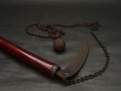 Ninja Weapon Kusarigama Chain-Sickle Samurai Japanese Antique Vintage