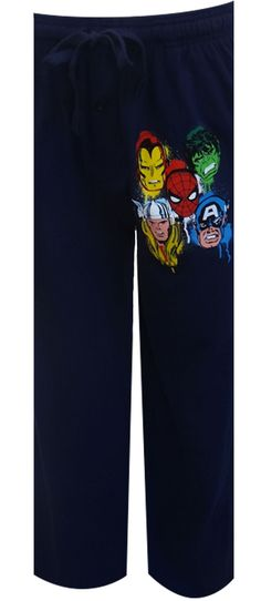 Marvel Comics Avengers Navy Blue Lounge Pants These superhero favorites are ready for action! These lounge pants for men featur...