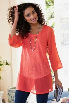Tunic Tops, Tunic Tops Long, Women's Tunics | Soft Surroundings