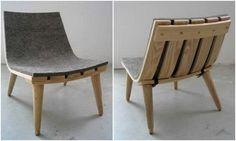 Mooi ontwerp - stoel met vilt