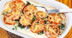 Ugnsstekt torsk med tomat och spenat