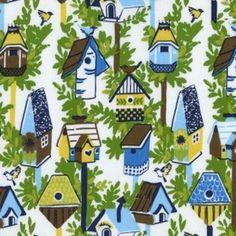 Dear Stella House Designer - Garden Party - Birdhouses in Blue =$9.25