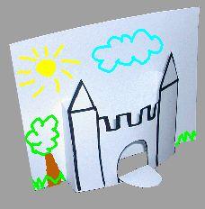 CASTILLO EN 3d Fairy Tale Crafts, Fairy Tale Theme, Art Drawings For Kids, Art For Kids, Crafts For Kids, First Grade Projects, Royal Tea Parties, Castle Crafts, Kids Castle