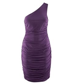 Purple One-shoulder Fitted Sexy Party Dress US$34.90