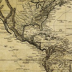 North america map of 1647 printed by imagerich genealogy made vintage world map canvas print on old world old world map 5 piece canvas art print for home and office decoration wall art art print gumiabroncs Choice Image