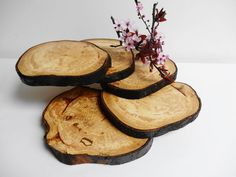 Cupcake Stand Wood Slice Stand Rustic Wood by DaliasWoodland, €35.00