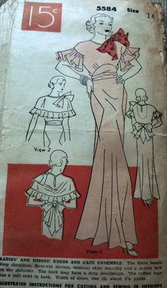 1930's Dress and Cape
