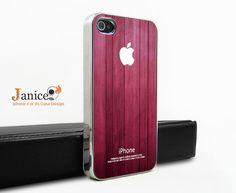 silvery  unique Iphone case  purple wood grain iphone 4 case iphone 4s case iphone 4 cover iphone case design. $16.98, via Etsy.