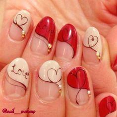 チョコレート柄?ハート柄?恋を運ぶ指先になれるバレンタイン直前ネイル特集 | by.S