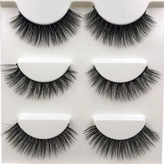 SHIDISHANGPIN 3 pairs mink lashes natural long mink eyelashes handmade 1 box false eyelashes lashes cilios for makeup beauty SHIDISHANGPIN 3 pairs mink lashes natural long mink eyelashes handm – eefury 3d Mink Lashes, Fake Eyelashes, Beauty Makeup, Hair Beauty, Work Party, Beauty Essentials, Different Styles, Handmade, Vison