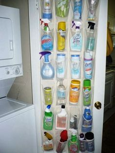 Repurpose a Shoe Organizer to Store Cleaning Supplies - Top 58 Most Creative Hom., Repurpose a Shoe Organizer to Store Cleaning Supplies - Top 58 Most Creative Hom. Organisation Hacks, Organizing Ideas, Storage Organization, Storage Hacks, Cheap Storage, Bathroom Organization, Shoe Storage, Clothes Storage, House Organization Ideas
