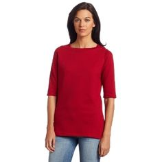 Dickies Women's Boat Neck Top, Cherry Red, Large (Apparel) #knits Boat Neck Tops, Cherry Red, Knits, Tunic Tops, Knitting, Tees, Fashion, Moda, Chemises