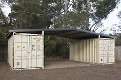 Garage or storage idea - Shipping container roof cover shelter kit suits 2 x Cheap barn shed house Could be good for inexpensive property management storage. Container Shop, Container Cabin, Cargo Container, Container House Plans, Container House Design, 20ft Container, Container Gardening, Shipping Container Sheds, Shipping Container Buildings