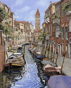 Venice Painting - il gatto nero a Venezia by Guido Borelli Venice Painting, Ways Of Seeing, Venice Italy, Painting Inspiration, Framed Artwork, Wall Art, Fine Art America, Giclee Print, National Parks
