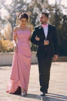 Applique Long Off the Shoulder Evening Formal Dresses,Satin