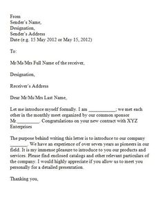 printable sample introduction letter for business proposal with 40 letter of introduction templates examples - Resume Letter Of Introduction