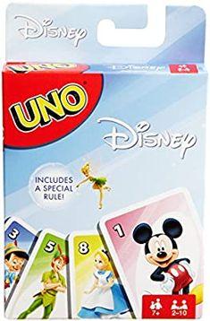 Amazon.com: Mattel Games UNO Disney Game: Toys & Games Uno Card Game, Uno Cards, Card Games, Disney Games, Disney Theme, Disney Toys, Birthday Presents For Boys, Christmas Gifts For Boys, Disney Animated Movies