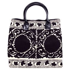 I pinned this Suzani Weekender in Black from the Sweet Sojourns event at Joss and Main!