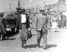 Mary and Herbert Lightfoot May 1948 Blackpool Promenade, Mary, Photoshoot, Photo Shoot, Photography