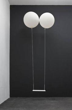"Sculpture/Installation by Dorota Buczkowska - ""Swing"" Art Conceptual, Art Minimaliste, Instalation Art, Sculpture, White Photography, Balloons Photography, Passion Photography, Contemporary Art, Abstract Art"