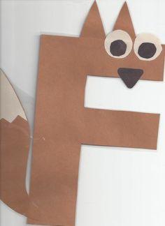 Miss Maren's Monkeys Preschool: F . is for Fox (Oct Free printable animal letter templates. Letter F Craft, Preschool Letter Crafts, Alphabet Letter Crafts, Abc Crafts, Preschool Projects, Classroom Crafts, Preschool Crafts, Letter Art, Alphabet Book