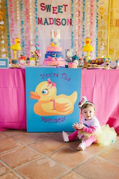 The Party Wall: Rubber Ducky Inspired First Birthday Party