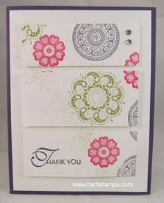 Lacy & Lovely Tri-Panel - Stampin' IS my job!! Barb Mullikin Stampin' Up! Demonstrator
