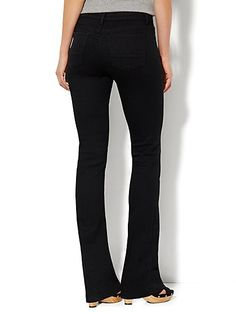 Soho Jeans - Instantly Slimming - Bootcut - Black - Petite - New York & Company