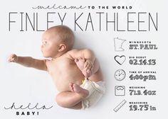 faire part naissance original moderne | girlystan.com