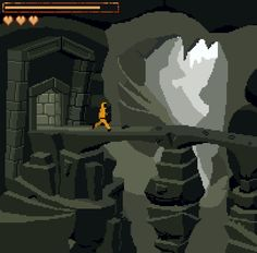 Mock up of some sort of sidescrolling adventure.