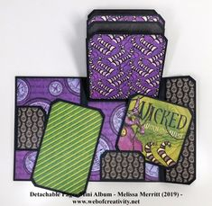 Mini Albums Scrap, Mini Scrapbook Albums, Magic Of Oz, Diy Crafts For Girls, Mini Album Tutorial, Wicked Witch, Graphic 45, Mini Books, Projects To Try