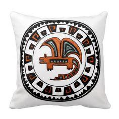 Ethnic dragon throw pillows #dragon #ethnic #drawing #atzec #vgf