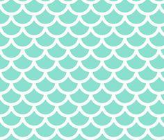 mermaid - ocean wallpaper by gingerme for sale on Spoonflower - custom wallpaper Frame Floral, Mermaid Bedroom, Mermaid Nursery, Girl Nursery, Mermaid Clipart, Ocean Fabric, Mermaid Wallpapers, Ocean Wallpaper, Bathroom Wallpaper