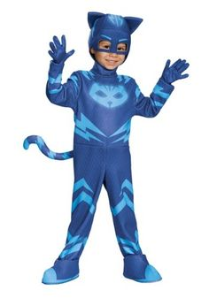 This deluxe PJ Masks Cat Boy costume lights up just like when Catboy Connor uses his super cat speed in the show!