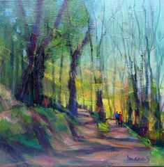 "Daily Paintworks - ""forest walk"" - Original Fine Art for Sale - © salvatore greco"