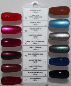 OPI Fall – Winter 2013 San Francisco Collection – Info, Photos & Swatches – Beauty Trends and Latest Makeup Collections Pedicure, Opi Nail Colors, Nail Colour, Opi Nails, Nail Polishes, Manicures, Opi Polish, Latest Makeup, Nail Polish Collection