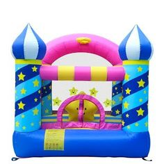 [REVIEW!] Dr.Dolphin Inflatable Bouncer Star Castle Jumping Bouncing Bed for Kids Having Fun Celebrating Birthday for Outdoor or Indoor Playing with Blower and Repair Patches and Plastic Nails