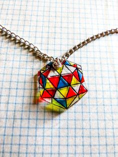 Geometric Octagon Pendent by NauticalRabbit on Etsy, $5.99