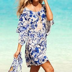 Specifications    Gender Women,    Swimwear Style Floral,    Swimwear Category Cover-Ups,    THICKNESS Thin,    Color Multi-color,    Fabric Chiffon,    Size One Size,